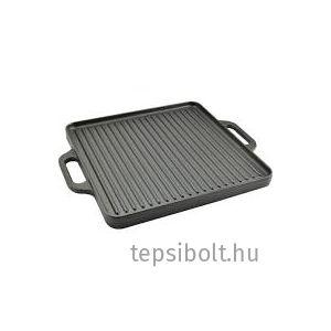 Perfect Home Öntöttvas grill lap 2 oldalas 33x33 cm