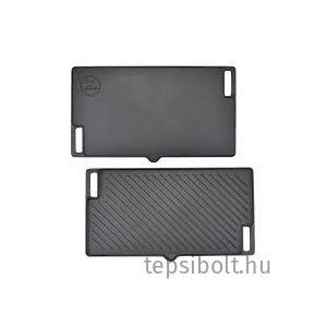Perfect Home Öntöttvas grill lap 2 oldalas 45x25 cm  csőrős