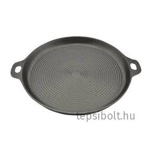 Öntöttvas grill serpenyő, grill lap, kerek 12003